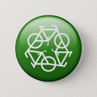 ReBicycle Green 2 Inch Round Button