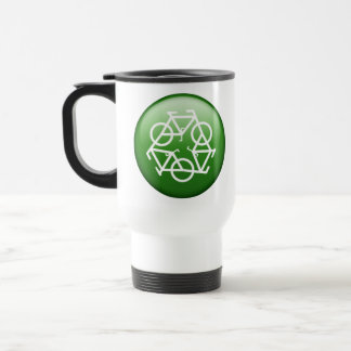 ReBicycle Green Travel Mug
