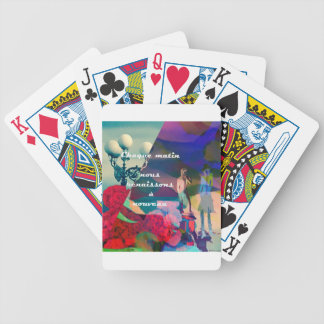 Rebirth and renaissance through the times bicycle playing cards