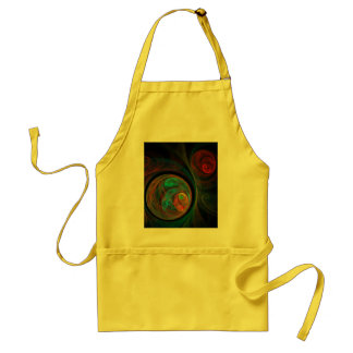 Rebirth Blue Abstract Art Apron
