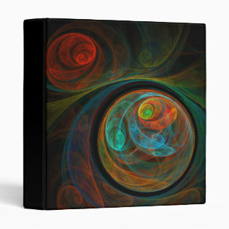 Rebirth Blue Abstract Art Binder