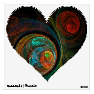 Rebirth Blue Abstract Art Heart Wall Sticker
