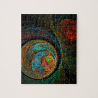 Rebirth Blue Abstract Art Jigsaw Puzzle
