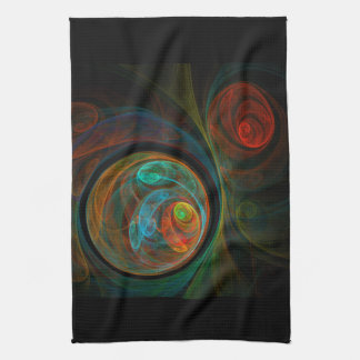 Rebirth Blue Abstract Art Kitchen Towel