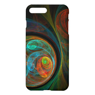 Rebirth Blue Abstract Art Matte iPhone 7 Plus Case