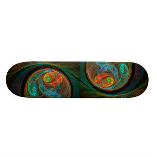 Rebirth Blue Abstract Art Skateboard