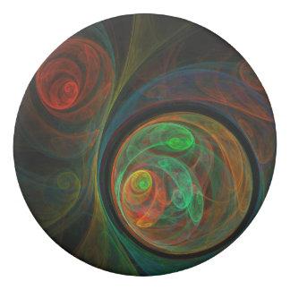 Rebirth Green Abstract Art Eraser