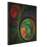 Rebirth Green Abstract Art Wrapped Canvas Print