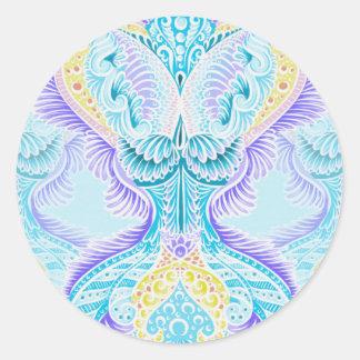 Rebirth, New age, meditation, boho, hippie Classic Round Sticker