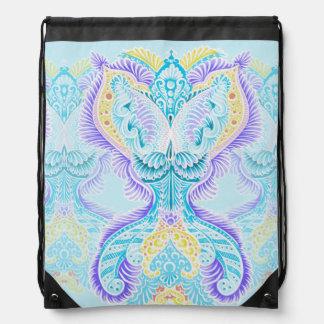 Rebirth, New age, meditation, boho, hippie Drawstring Bag