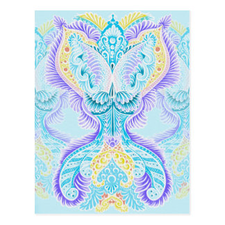 Rebirth, New age, meditation, boho, hippie Postcard