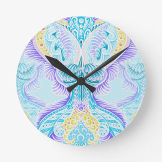Rebirth, New age, meditation, boho, hippie Round Clock