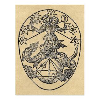 Rebis - Duality Sepia Postcard