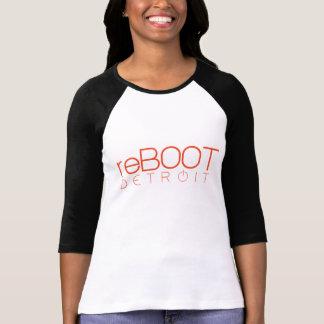 reBOOT Detroit Ladies 3/4 Sleeve Raglan (Fitted) T-Shirt