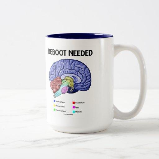 Reboot Needed (Anatomical Brain Humor) Coffee Mug