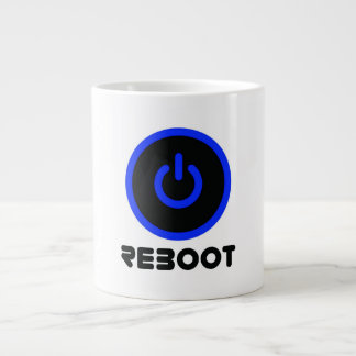 REBOOT POWER COFFEE DESIGN LARGE COFFEE MUG