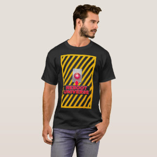 Reboot Universe Button: Men's black teeshirt T-Shirt