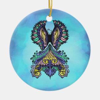 Reborn - Dark, bohemian, spirituality Ceramic Ornament