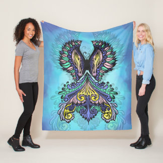 Reborn - Dark, bohemian, spirituality Fleece Blanket