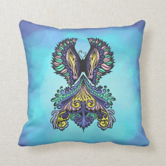 Reborn - Dark, bohemian, spirituality Throw Pillow