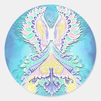 Reborn - Light, bohemian, spirituality Classic Round Sticker