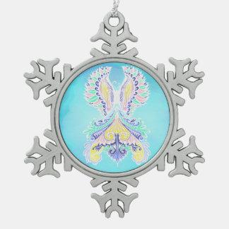Reborn - Light, bohemian, spirituality  Pattern by Snowflake Pewter Christmas Ornament