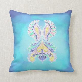 Reborn - Light, bohemian, spirituality  Pattern by Throw Pillow