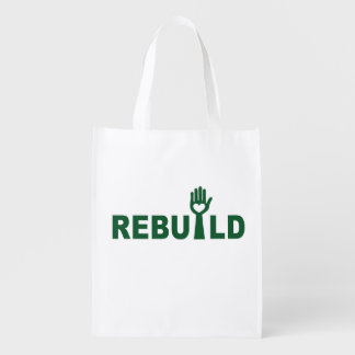 Rebuild the Lost with Love Reusable Grocery Bag