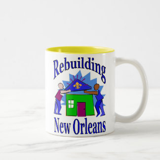 Rebuilding New Orleans Together Two-Tone Coffee Mug