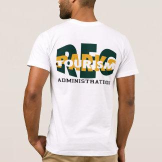 Rec Parks Tourism Men's White T-Shirt, back design T-Shirt