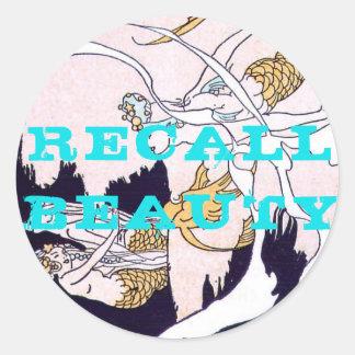 RECALL BEAUTY - mermaids Classic Round Sticker