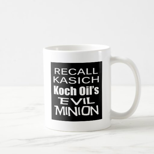Recall Governor John Kasich Koch Oil's Minion Coffee Mug