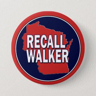 Recall Governor Scott Walker 3 Inch Round Button