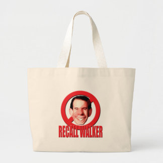 Recall Governor Scott Walker Large Tote Bag