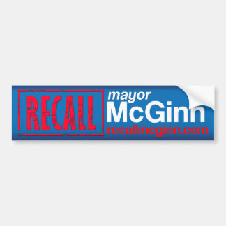 Recall Mayor Mike McGinn Bumper Sticker