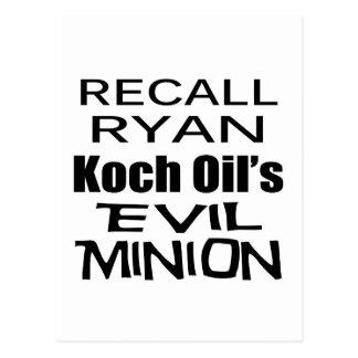 Recall Paul Ryan Koch Oil's Evil Minion Postcard