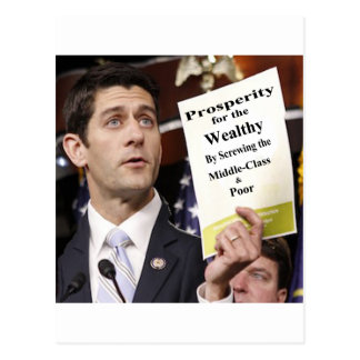 Recall Representative Paul Ryan Postcard
