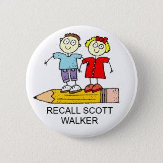 RECALL SCOTT WALKER 2 INCH ROUND BUTTON