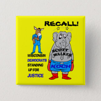 RECALL SCOTT WALKER 2 INCH SQUARE BUTTON