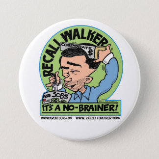 Recall Scott Walker 3 Inch Round Button