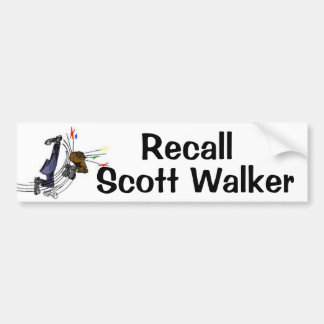Recall Scott Walker Bumper Sticker