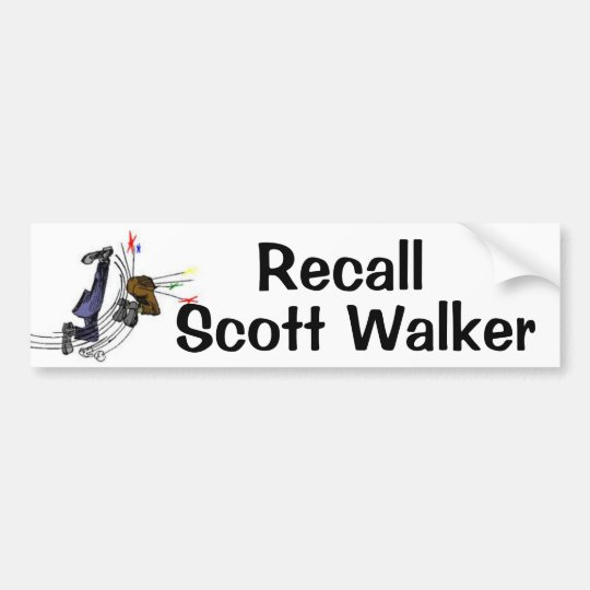 Recall Scott Walker Bumper Sticker