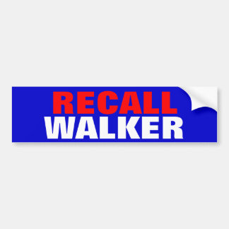 RECALL WALKER BUMPER STICKER