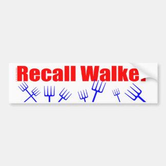 Recall Walker Bumper Stickers