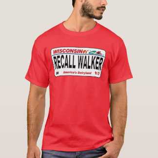 Recall Walker - License Plate Design T-Shirt