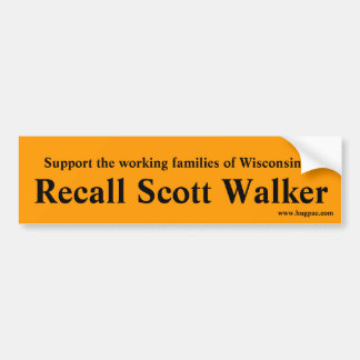 Recall Walker - Orange Bumper Sticker