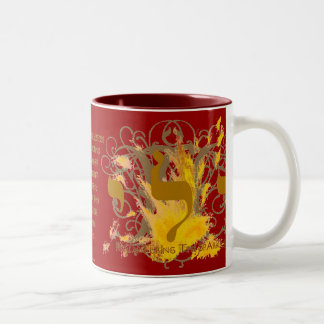 RECAPTURING THE SPARKS ~ RED Two-Tone COFFEE MUG
