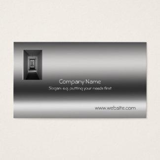 Receding Corridor Metallic-look template Business Card
