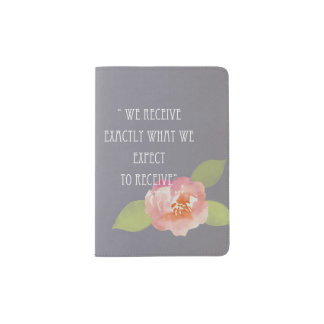 RECEIVE WHAT WE EXPECT TO RECEIVE FLORAL MONOGRAM PASSPORT HOLDER