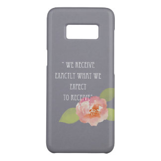 RECEIVE WHAT WE EXPECT TO RECEIVE PINK FLORAL Case-Mate SAMSUNG GALAXY S8 CASE